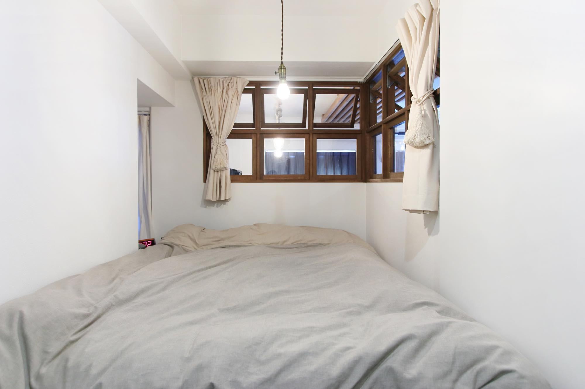 ベッドルーム事例:寝室(57平米に込めた夫妻の想い)