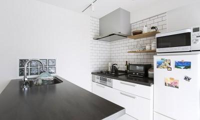 NYのキャッスル・キッチン-こだわり抜いたキッチンで過ごす時間は格別 (NYをイメージしたキッチン)