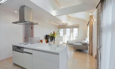 2階LDKにはドーマーから差し込む光が。|パリの家 Le Logement de Paris憧れの住まいを。