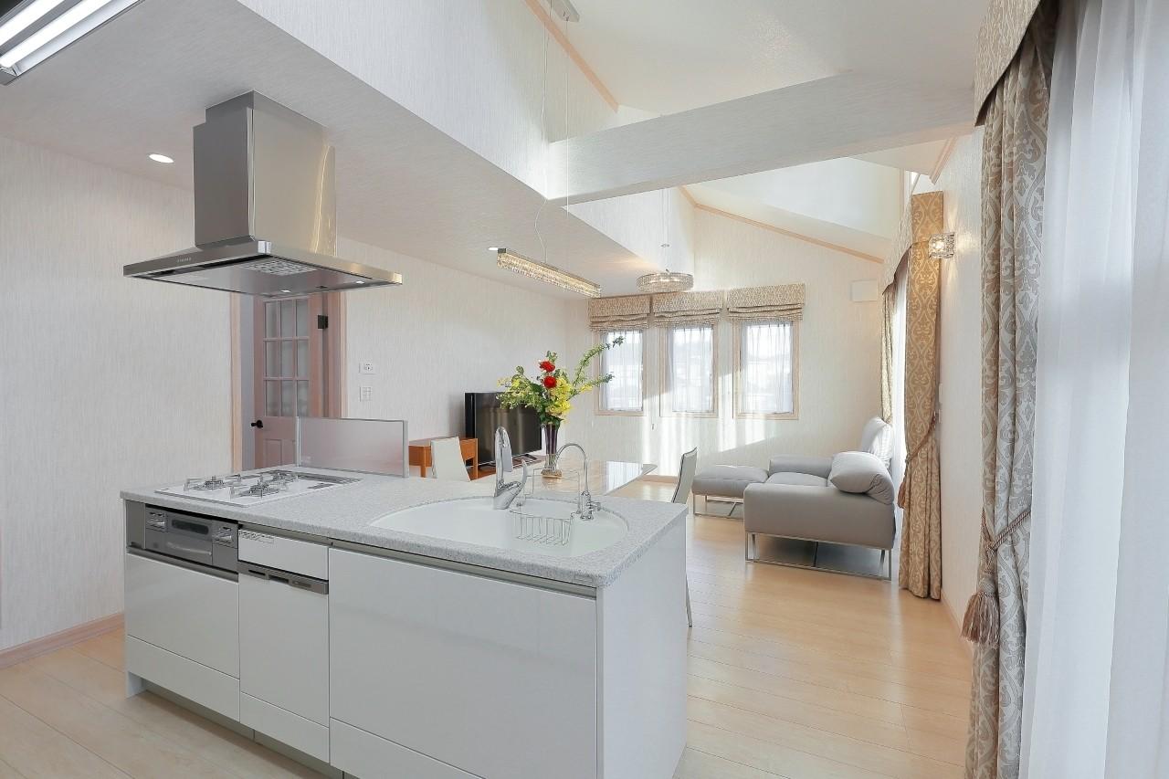 キッチン事例:2階LDKにはドーマーから差し込む光が。(パリの家 Le Logement de Paris憧れの住まいを。)