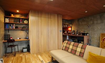 セットアップされた組み合わせの中に自分仕様のアレンジを施す、居心地の良い空間