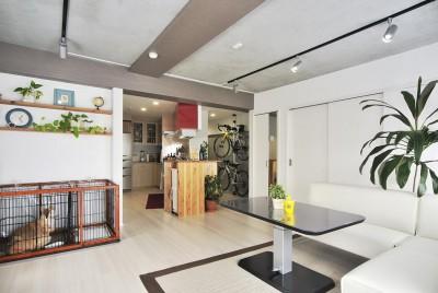 リビング&キッチン (ホワイトスタジオ)