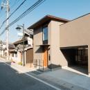 参道沿いの家~らせん階段でつなぐ2世帯住居~の写真 外観
