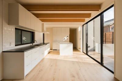 キッチン (参道沿いの家~らせん階段でつなぐ2世帯住居~)