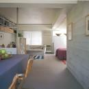 大理石モザイク床にしたスタイリッシュなメゾネットマンション改装の写真 代々木公園近くのマンション