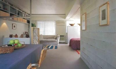 大理石モザイク床にしたスタイリッシュなメゾネットマンション改装 (代々木公園近くのマンション)