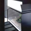 蒲郡 海辺市街地の別荘の写真 強化ガラス踏板の階段
