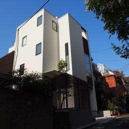 港区の家~ルーフテラスのある都心3階建~ (外観)