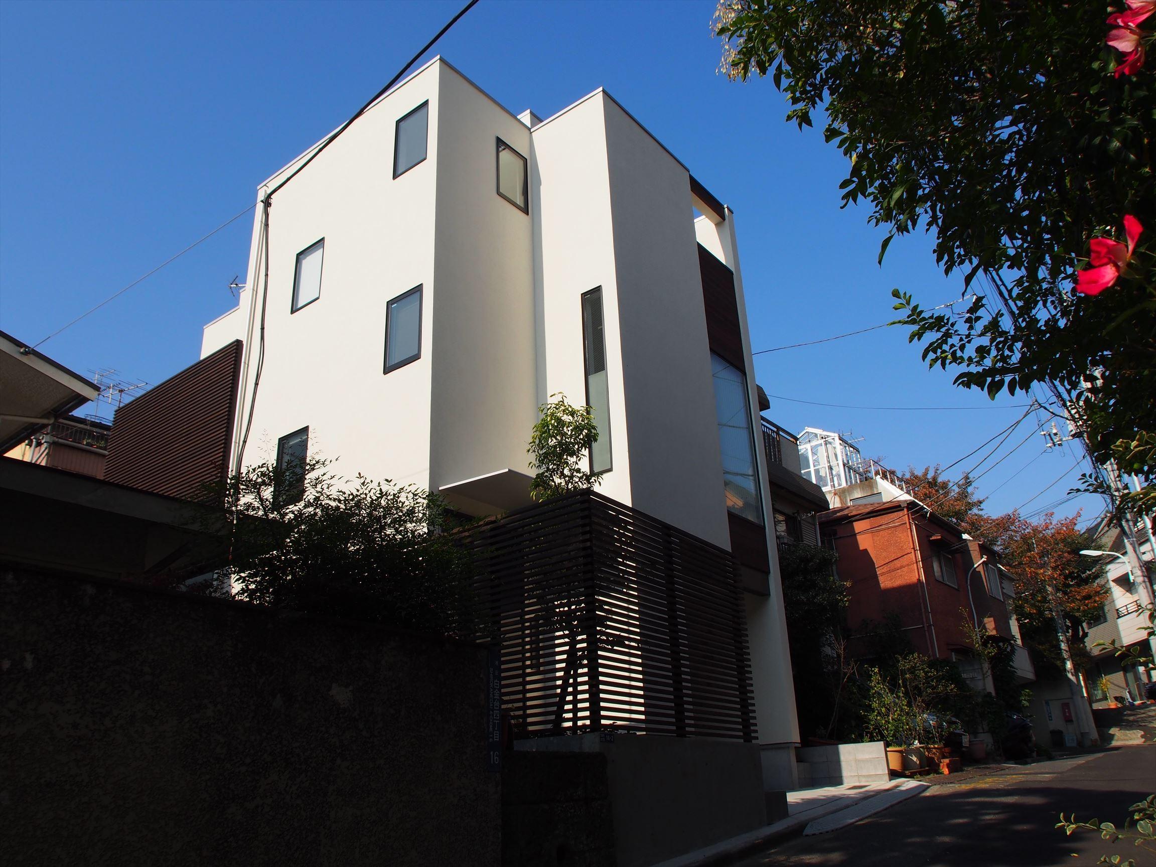 外観事例:外観(港区の家~ルーフテラスのある都心3階建~)