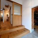 アウトドアを楽しむ家の写真 土間と繋がる玄関