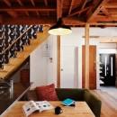 家族の好きな色と想いをカタチにの写真 リビング階段