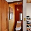 家族の好きな色と想いをカタチにの写真 トイレ