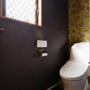 家族の好きな色と想いをカタチにの写真 トイレ(2階)