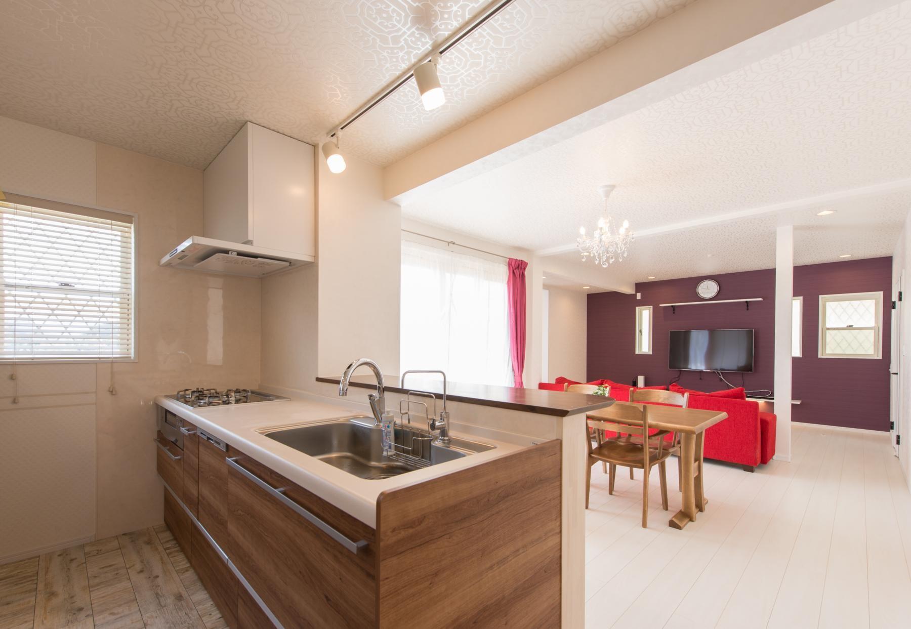 キッチン事例:キッチン(家族3人とワンちゃんが心地よく暮らす、戸建リノベーション)
