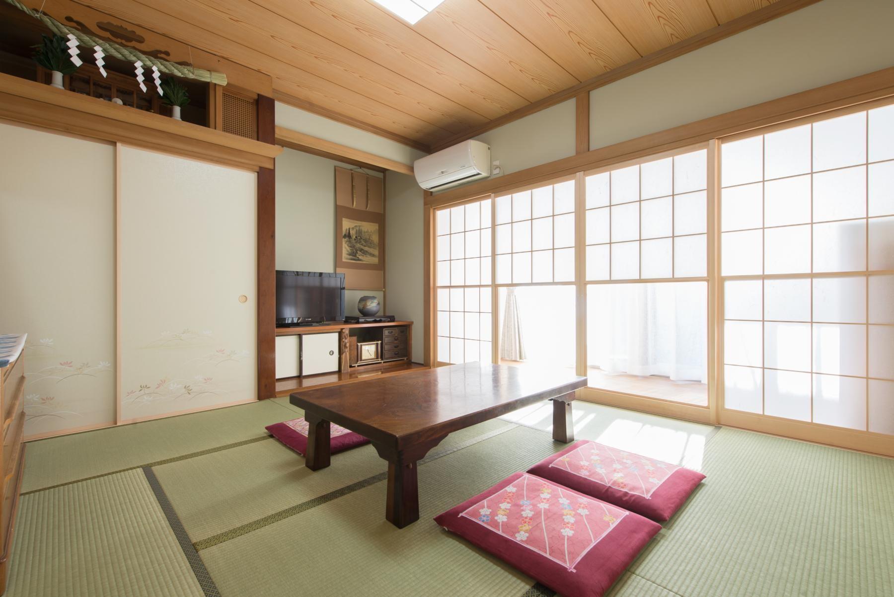 その他事例:和室(落ち着いた和モダンに二世帯が心地よく暮らす、戸建て全面改装)