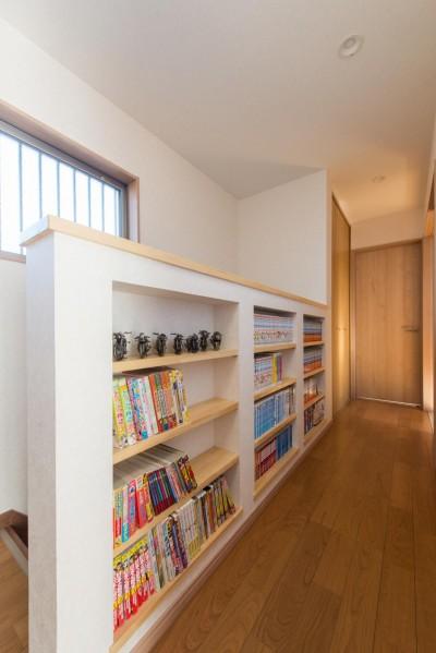 増作本棚 (落ち着いた和モダンに二世帯が心地よく暮らす、戸建て全面改装)