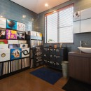お母様と同居&趣味も楽しめる!戸建て全面リフォームの写真 洗面スペース