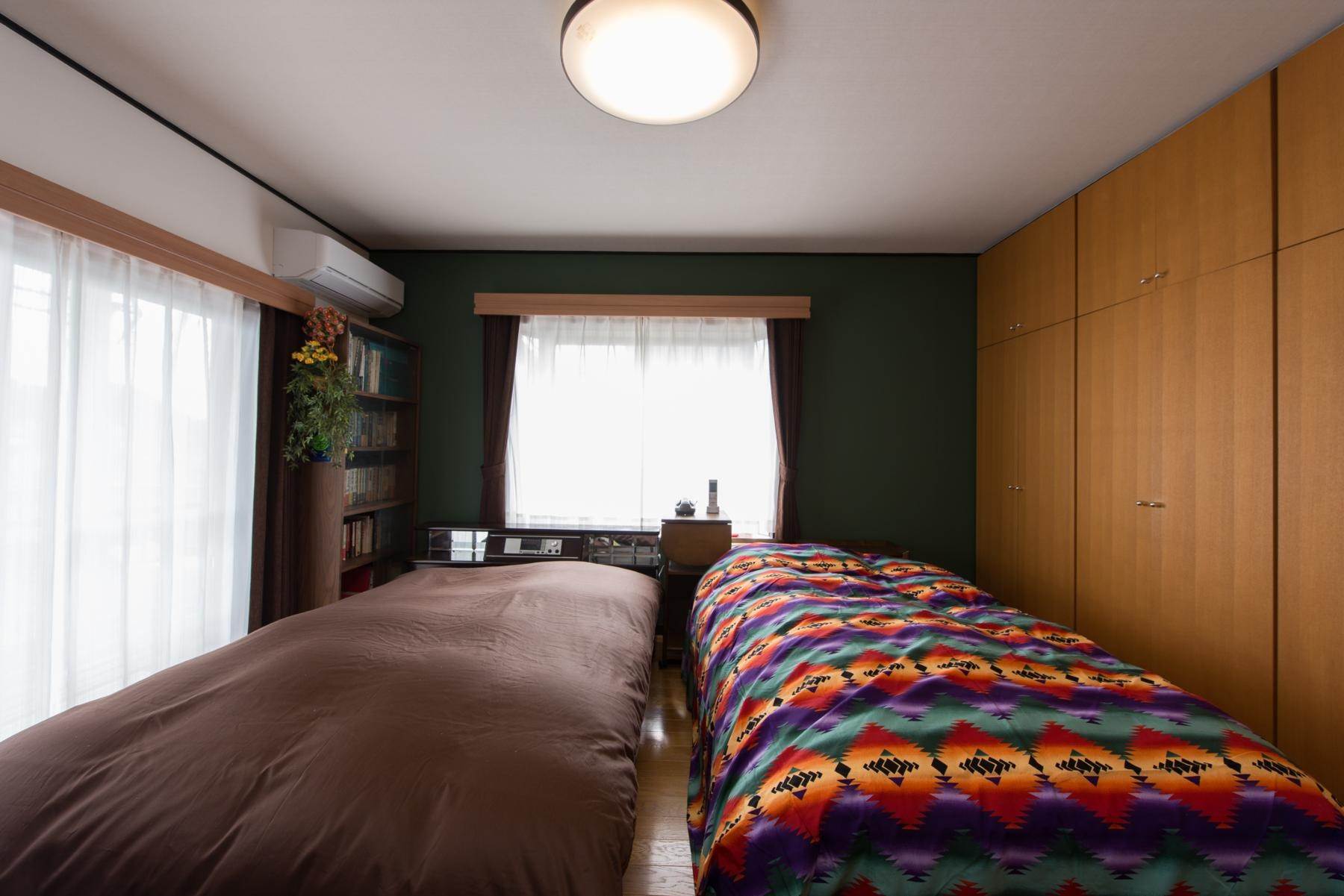 ベッドルーム事例:寝室(お母様と同居&趣味も楽しめる!戸建て全面リフォーム)