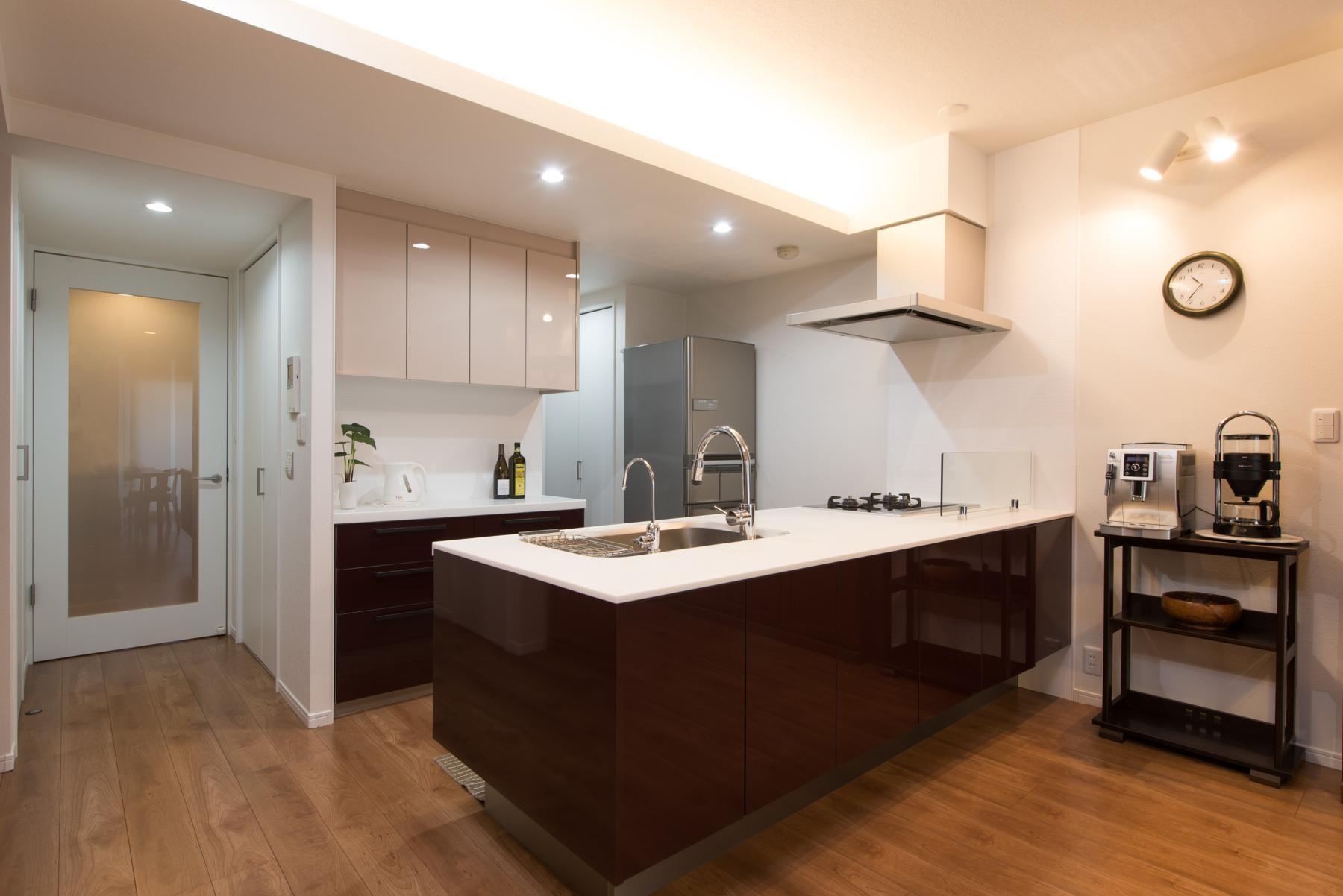 キッチン事例:キッチン(ご夫婦がゆったりくつろげる間取りに全面改装)