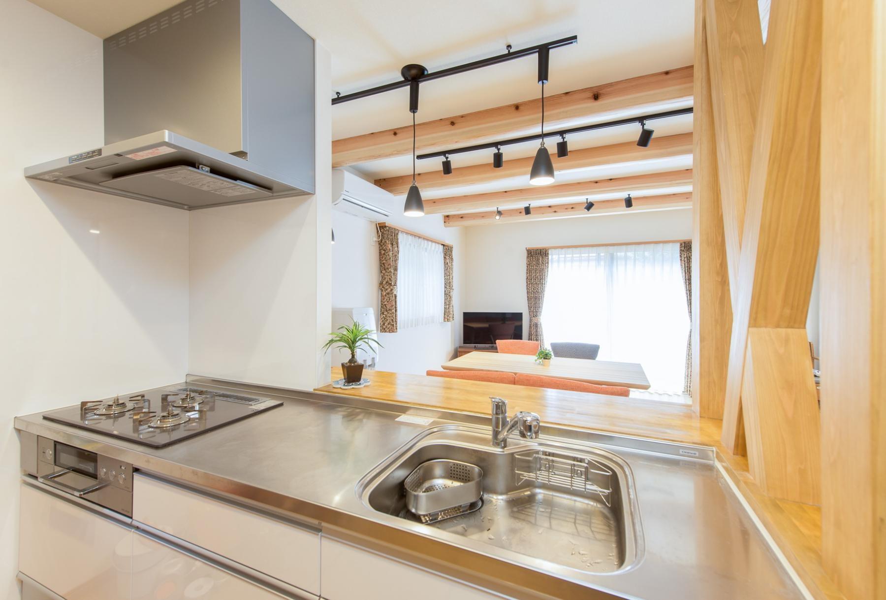 キッチン事例:キッチン(北欧風ナチュラルインテリアに!戸建て全面改装)