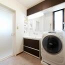 中古戸建て〜和を活かして、落ち着いた雰囲気にリフォームの写真 洗面脱衣室