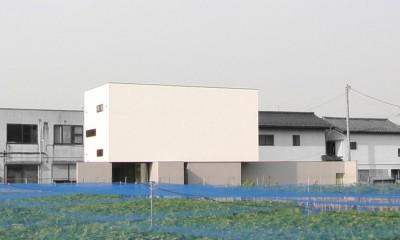 ミニマルデザインのハコ型の家