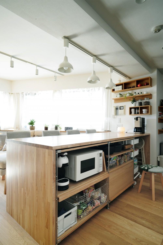 『無印な住まい』 ― 家具を部屋に溶け込ませて (キッチン)