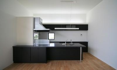 キッチン|ミニマルデザインのハコ型の家