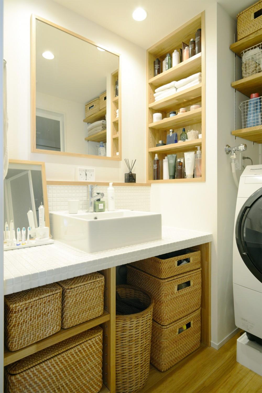『無印な住まい』 ― 家具を部屋に溶け込ませて (洗面台)