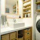 『無印な住まい』 ― 家具を部屋に溶け込ませての写真 洗面台