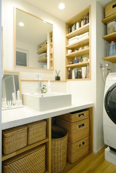 洗面台 (『無印な住まい』 ― 家具を部屋に溶け込ませて)