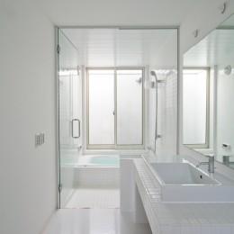 ミニマルデザインのハコ型の家 (サニタリー)