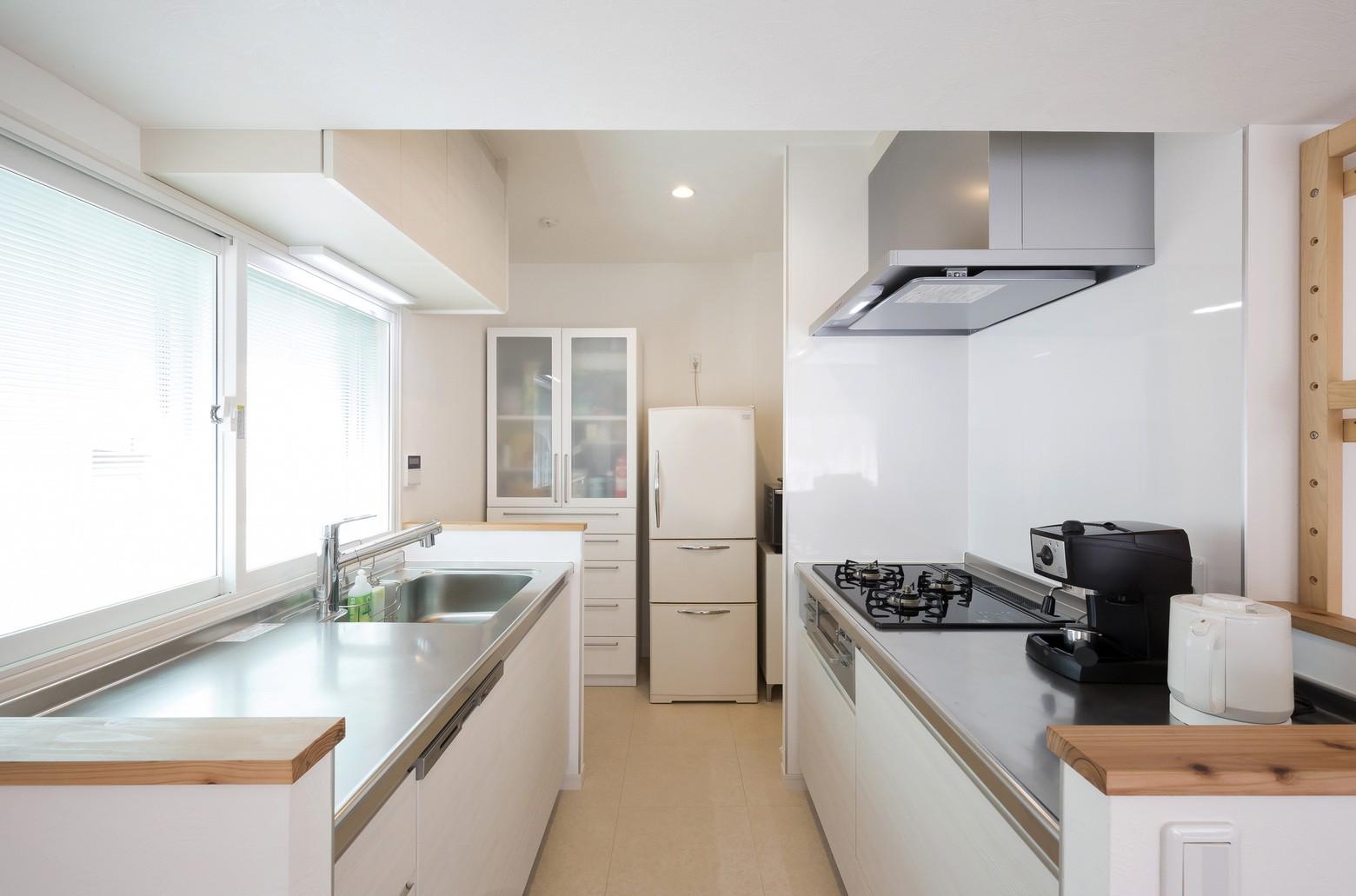 キッチン事例:キッチン(ご祖父母から受け継いだ築39年のスケルトンリノベーション)