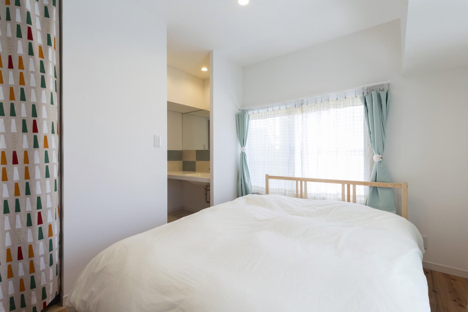 ベッドルーム事例:寝室(ご祖父母から受け継いだ築39年のスケルトンリノベーション)
