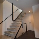 目黒の家~狭小地に縦に広く暮らす家~の写真 階段
