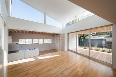 1階LDKスペース photo:吉田誠 (番田の住宅)