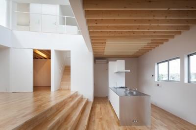 番田の住宅 (キッチン、ダイニング)