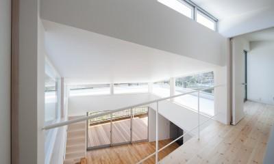 番田の住宅 (2階吹抜け上部)