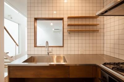 2階キッチン (豪徳寺の住宅)