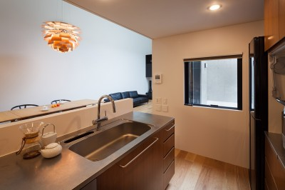 1階キッチン (野沢の住宅)