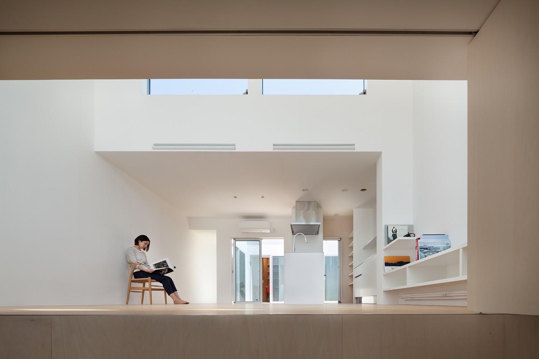 リビングダイニング事例:1階LDKスペース(名古屋の住宅)