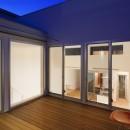 名古屋の住宅の写真 2階テラス夜景