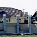 オープンテラスがある週末邸宅:コンクリート構造の住宅設計の写真 コンクリート構造の住宅 (別荘・セカンドハウス)