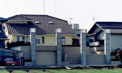 コンクリート構造の住宅 (別荘・セカンドハウス) (オープンテラスがある週末邸宅:コンクリート構造の住宅設計)