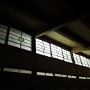 家族のびのび大空間:自然素材の家の写真 リビング吹き抜け(夜間)
