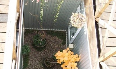 中庭|家族のびのび大空間:自然素材の家