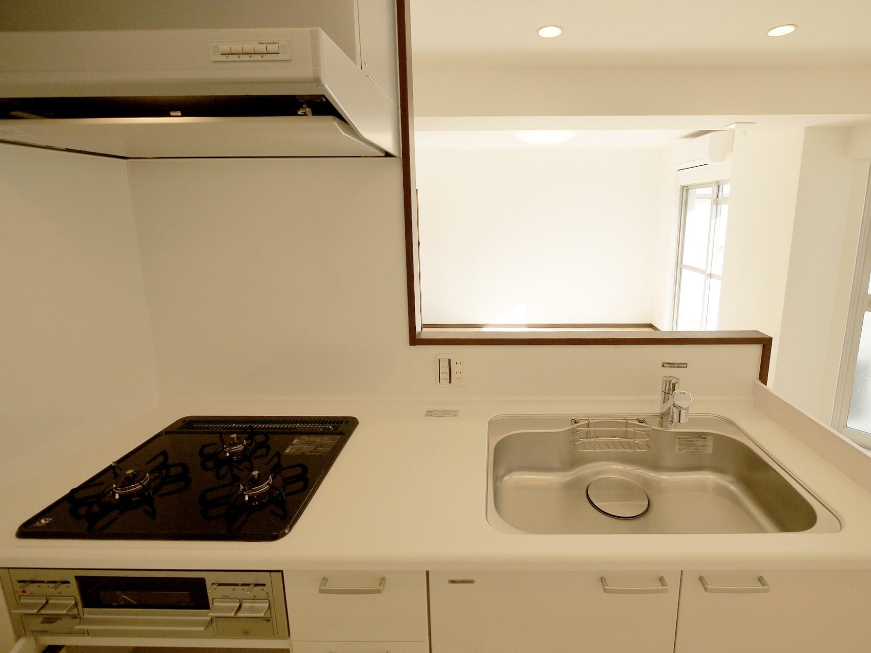 キッチン事例:キッチン(採光豊かなLDKに)