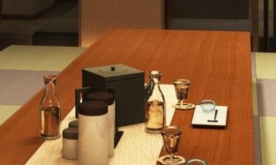 家族の変化に対応した『高床和室』を設けたマンション リフォーム (ダイニングテーブル)