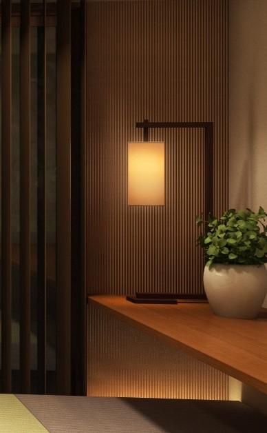 家族の変化に対応した『高床和室』を設けたマンション リフォーム (和室の壁際の飾り棚(通し棚))