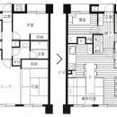 家族の変化に対応した『高床和室』を設けたマンション リフォームの写真 『高床和室』を設けたマンション リフォームの図面